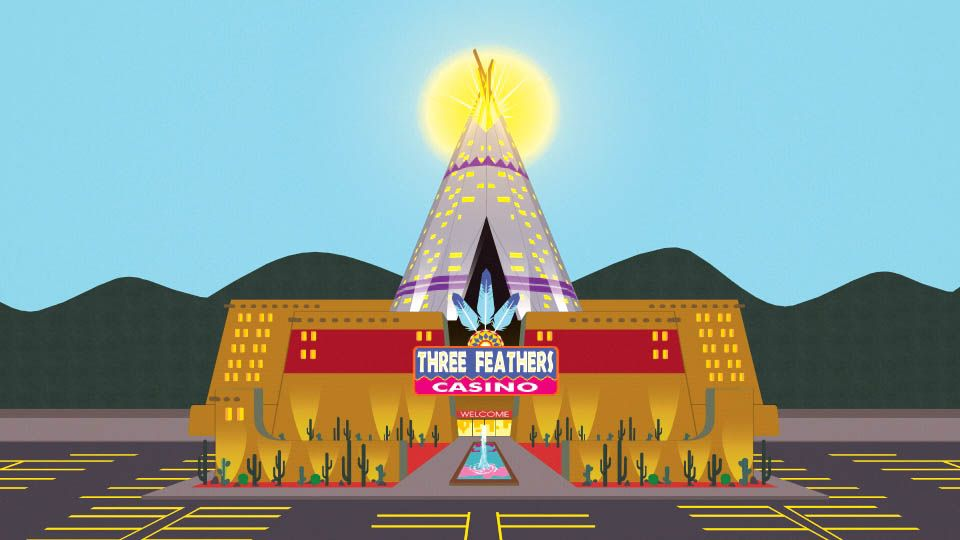 Three Feather Indian casino from South Park
