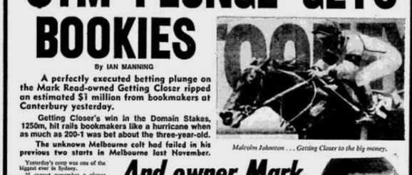 Best Online Horse Racing Bookmakers. Photo of an old newspaper talking about Million Dollar Horse Races